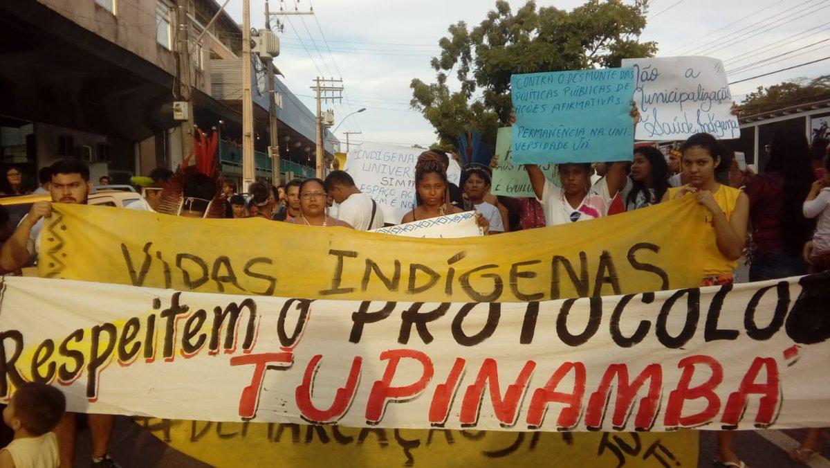 Setor do agronegócio exportador vira alvo em dia de protesto indígena, em Santarém