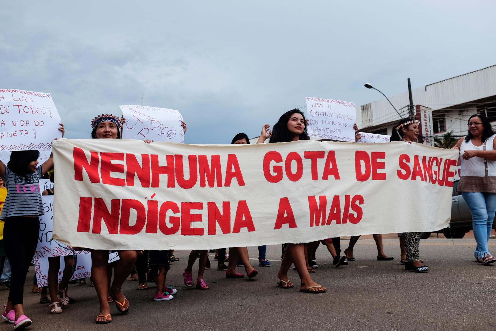 No Acre, indígenas prometem um ano de 'luta e vigília'
