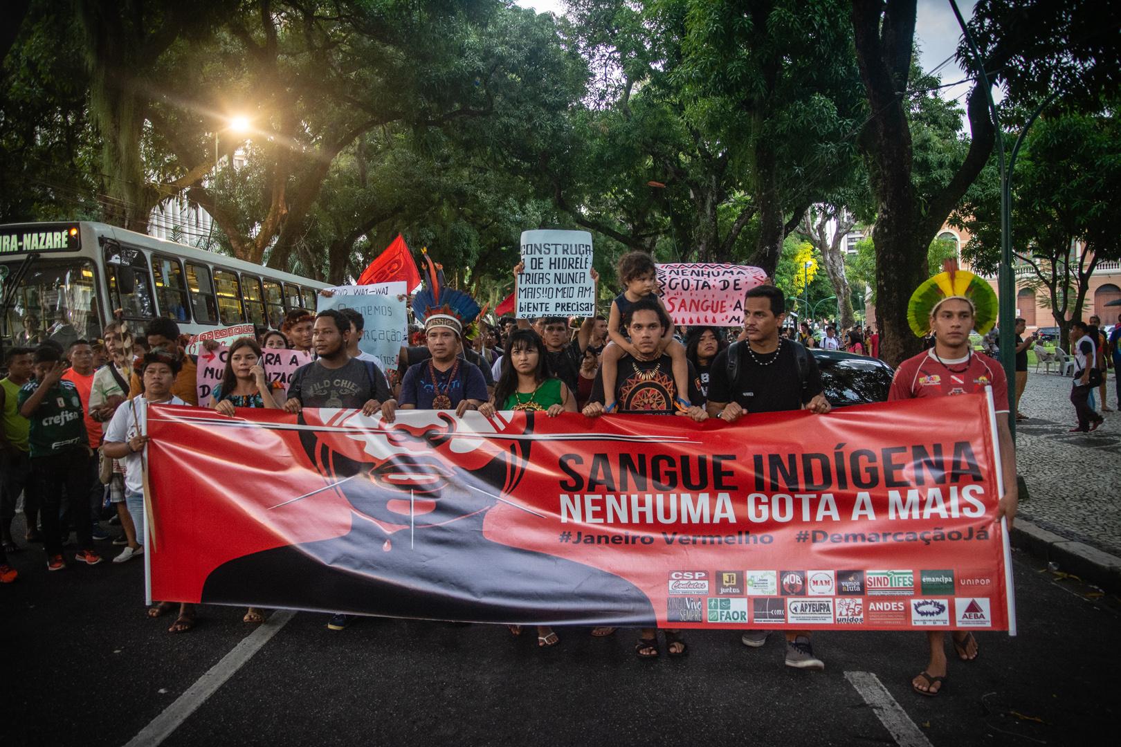 No Pará, protestos incluem questões da saúde, educação e até venezuelanos