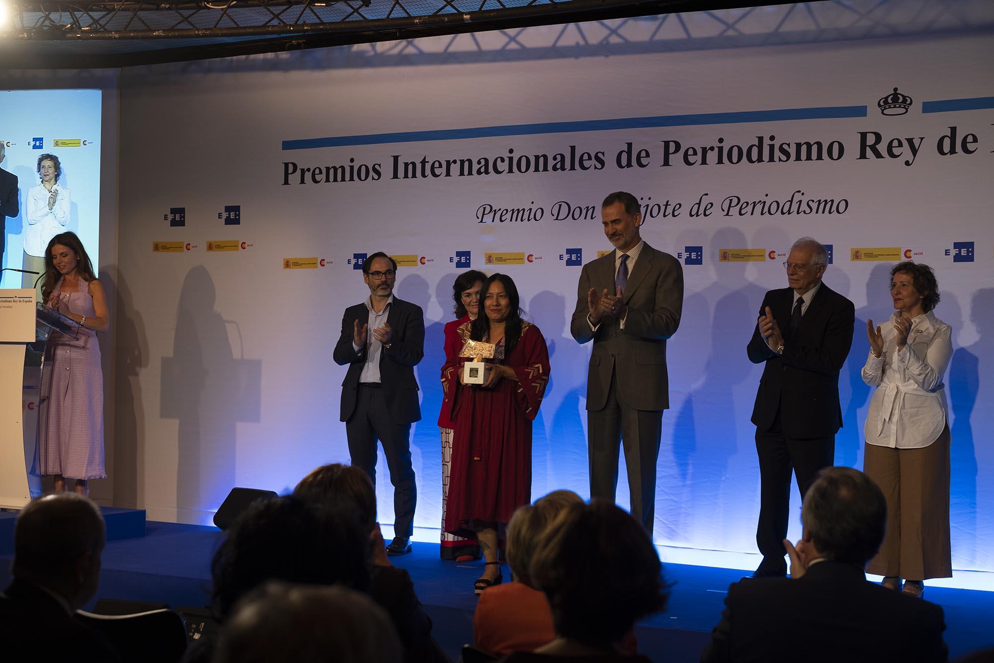 Em Madri, a agência Amazônia Real recebe o Prêmio Rei da Espanha