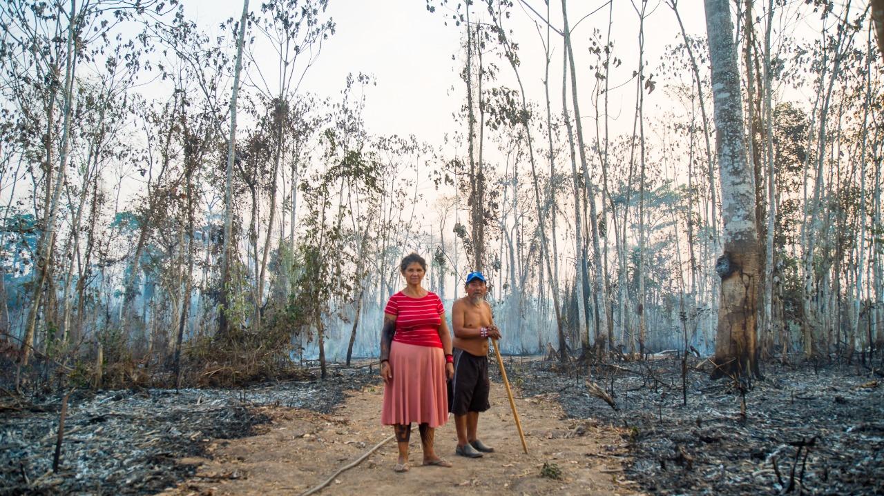 Amazônia em Chamas: indígenas Huni Kuin perdem animais e árvores em incêndio, no Acre