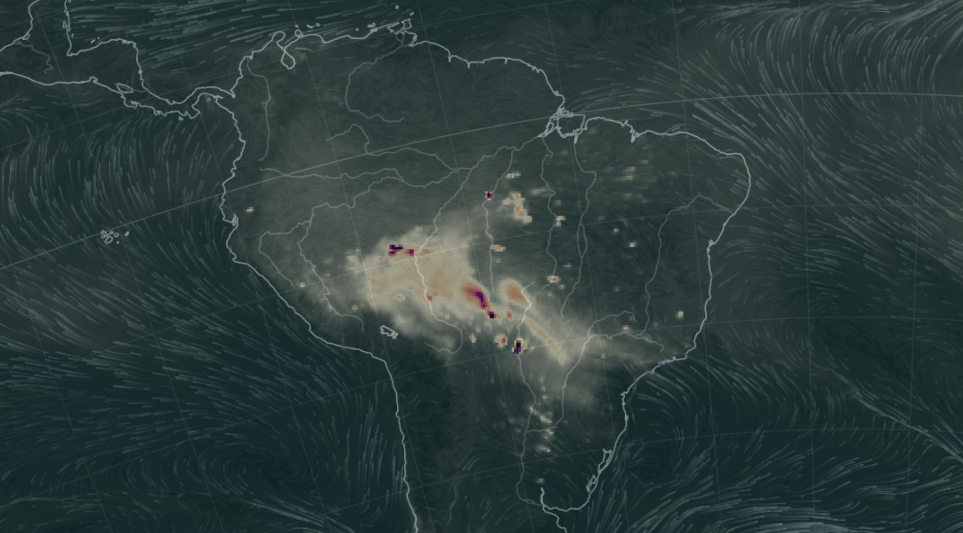 Amazônia em Chamas: fumaça das queimadas avança sobre a região Sudeste