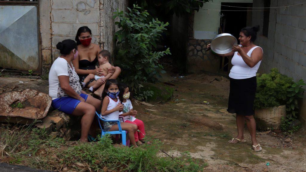 Protesto pela saúde de São Gabriel da Cachoeira, 26 de maio de 2020 Foto de Paulo Rodrigues Desana/Amazônia Real