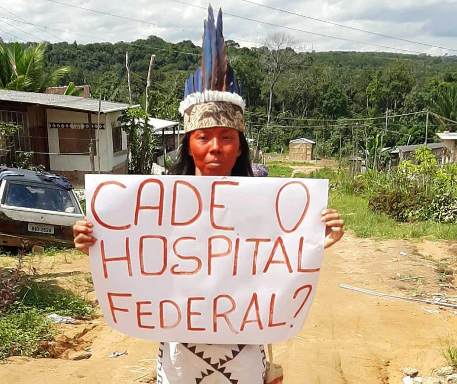 A jovem liderança Vanda Ortega Witoto, do Parque das Tribos, em Manaus