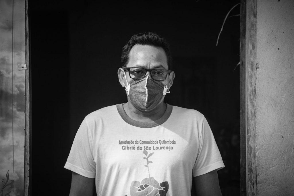 Mário Santos, liderança da Comunidade Quilombola Gibrié de São Lourenço (Cícero Pedrosa Neto/Amazônia Real)
