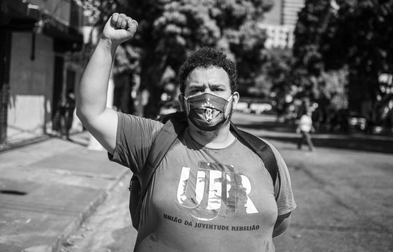 Manifestação antirracista em Belém (Foto Cícero Pedrosa Neto