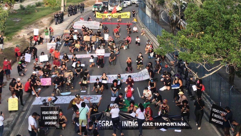 Manifestação antirracismo em Manaus (Foto Amazônia Real)