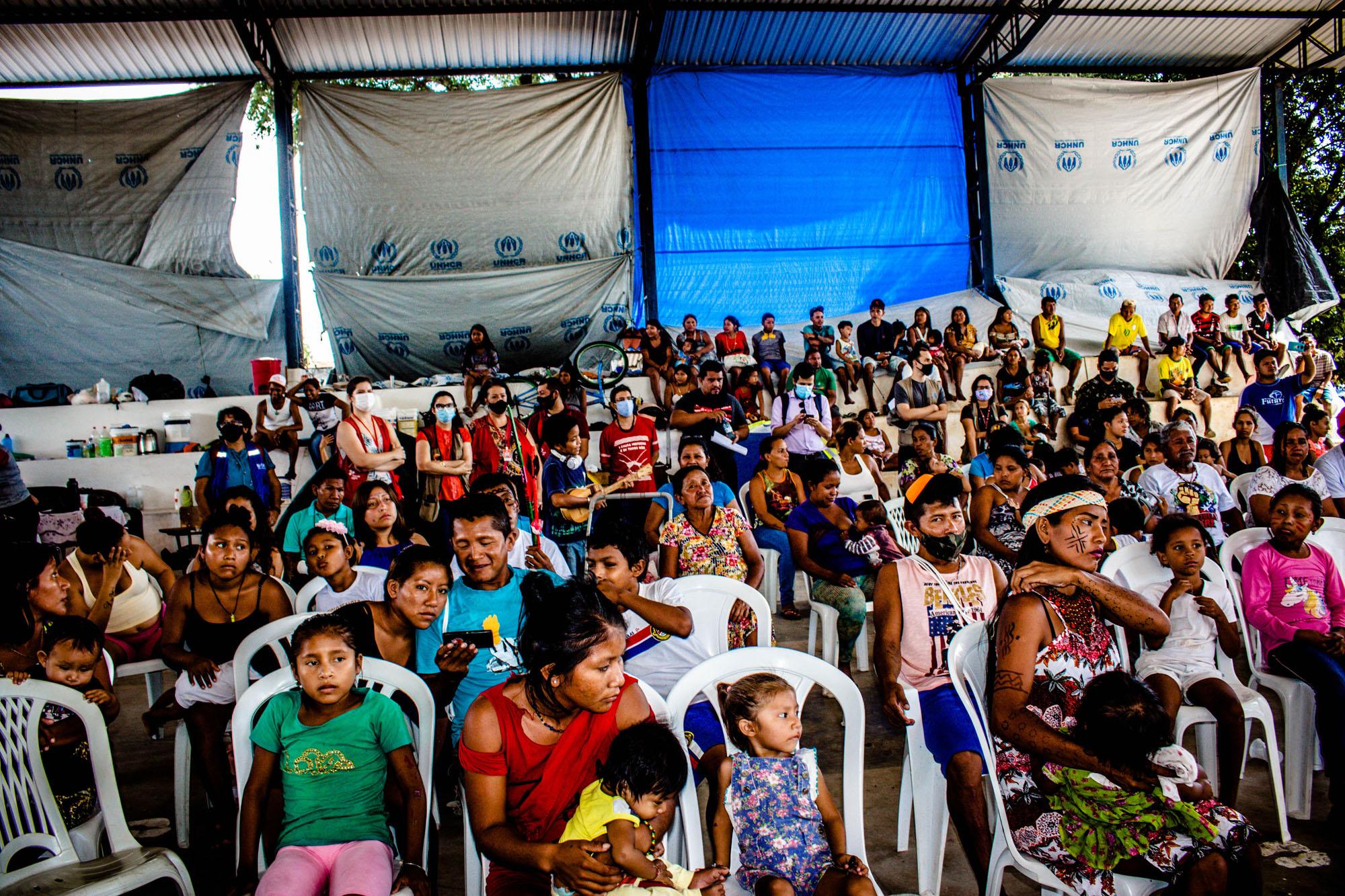 Em assembleia, indígenas venezuelanos defendem permanência em Ka'Ubanoko