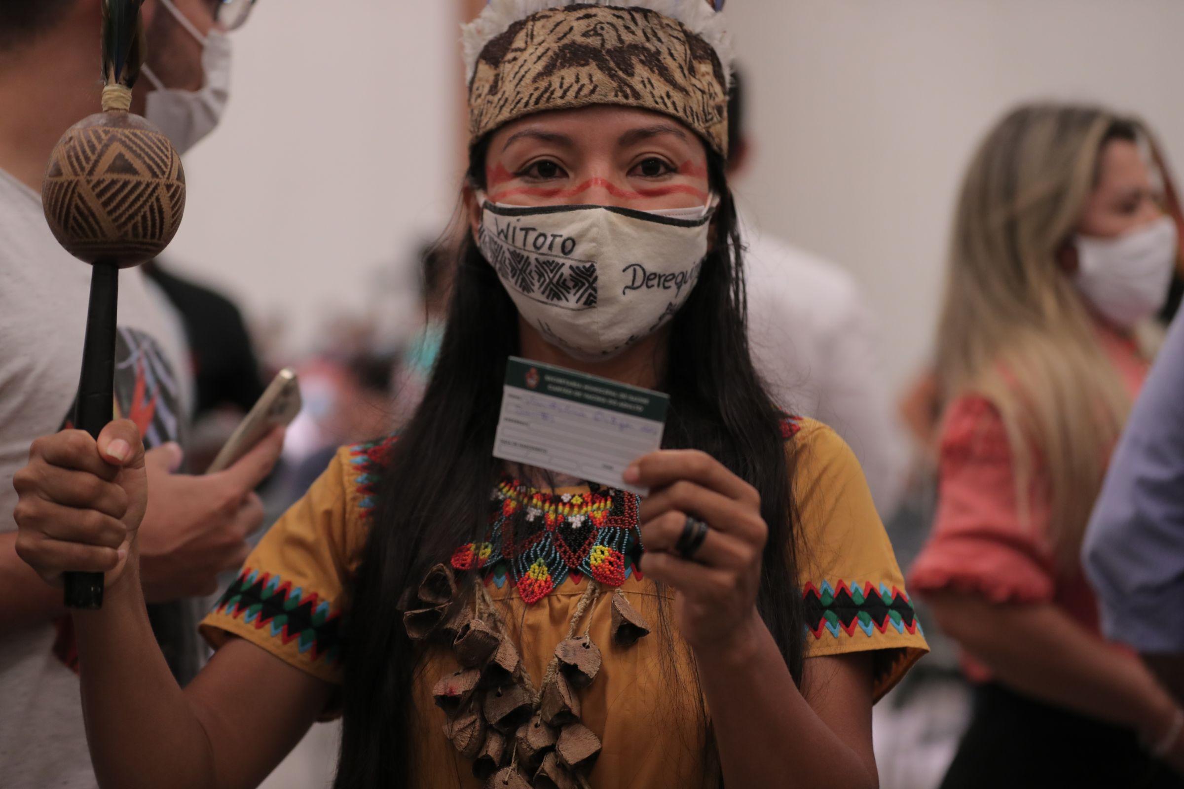 Vanda Ortega Witoto, 1ª vacinada no Amazonas, fala sobre ataques misóginos