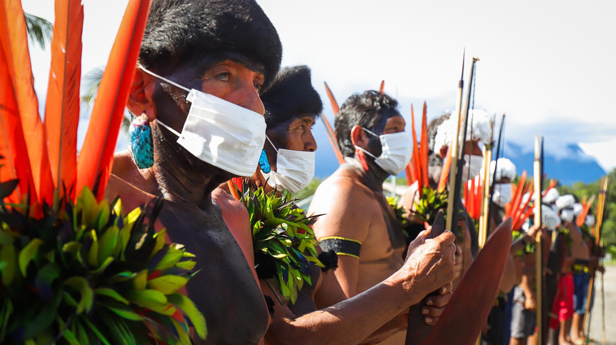 Yanomami em Maturacá na fronteira com a Venezuela (Foto: Paulo Desana/Amazônia Real)