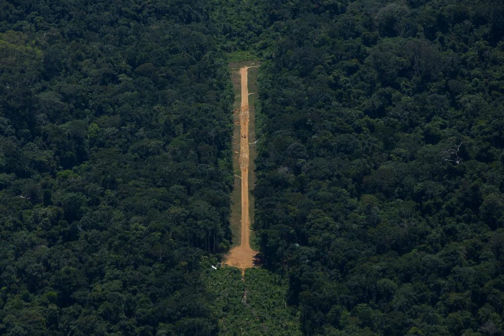 Pista na região do Parima (Foto: Bruno Kelly/Amazônia Real)