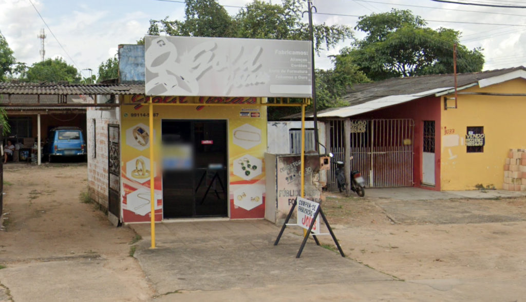 On the so-called Rua do Ouro, in Boa Vista, Gold Joias is one among dozens of stores that sell gold illegally extracted from TI Yanomami (Image: Google Street View)