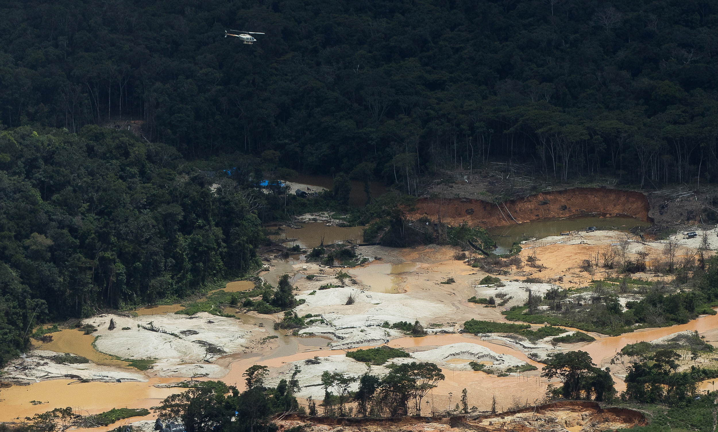Pilots and aircraft owners working in the area have also been getting richer, some earning as much as R$ 200,000 a week, according to the Federal Police. They are responsible for the logistics that supports the mining activities at the TI (Photo: Bruno Kelly/Amazônia Real)