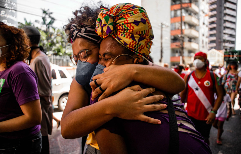 Cena da Marcha das Mulheres Negras Amazônidas