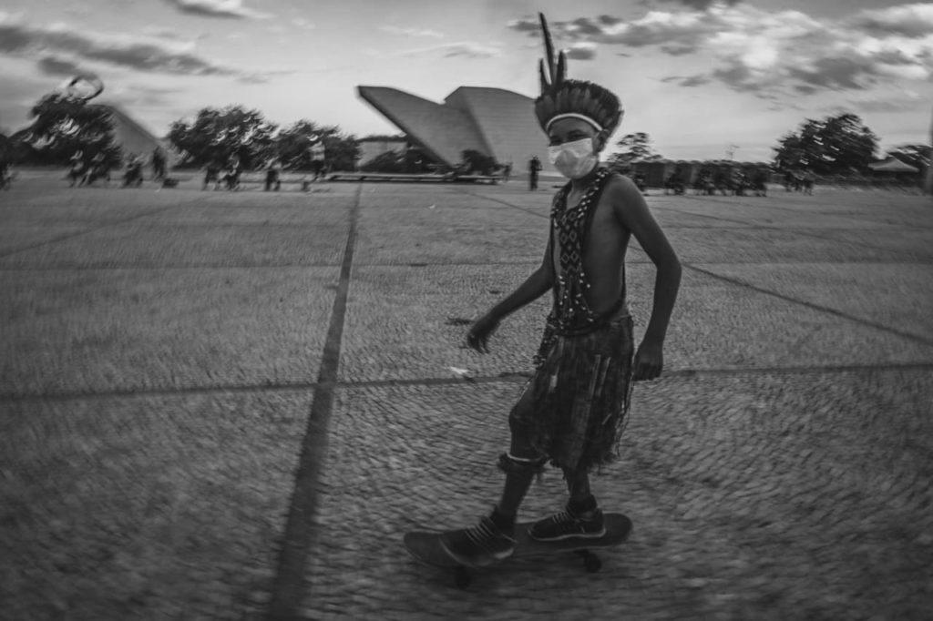 Julgamento do marco temporal com mobilização indígena em Brasília